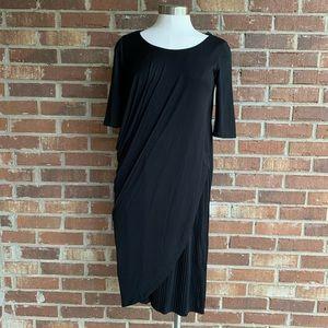 Josie Natori Scoop Neck Black Dress